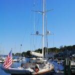 Yacht at Camden Harbor