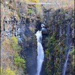 The falls and bridge