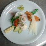Melon prawn & smoked salmon