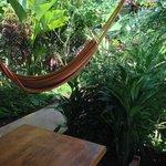 View of the veranda from cabana