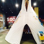 Tee pee you can enter & learn about