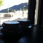 Coffee with the lake view