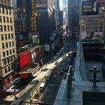 Blick von der Restaurantterrasse Richtung Times Square