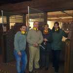 Tomas KRK on left and ourselves at shooting range Michael instructor on far right