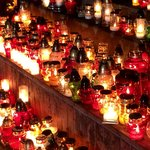 Just some of the thousands of glittering candles