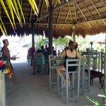 covered bar & restaurant area.