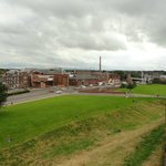 From atop the wall into Carlisle.