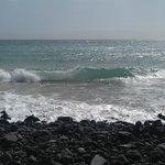 Stranden nedenfor hotellet.