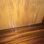 Damaged door veneer.