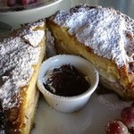 The Monte Cristo, which also comes with a tasty salad.