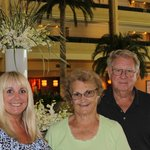 Me, Mom & Dad enjoying our time at the JW Marriott.