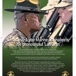 It is Lejeune / luh jern  Marine