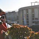 Vista do terraço (ao lado da piscina) para o Camp Nou