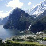 Milford sound from the helicopter