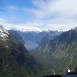 Milford Sound / Fiordland from the helicopter