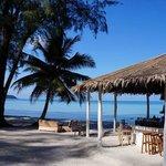 nice bar & stunning beach