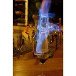 flaming lumboghini cocktail @ peter pan resort