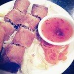 Fried shrimp crab pork rolls