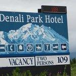 Denali Park Hotel Sign