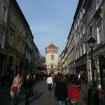 Calle Florianska en dirección opuesta a la plaza del mercado