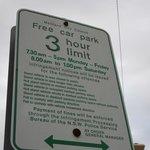 Parking Restrictions in adjacent carpark