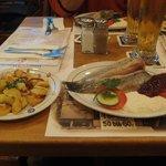 Matjes Fillet with Brat kartoffeln(Fried potatoes)