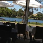 View across to Jackadder Lake from Blu Grill