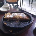 Half of the Okonomiyaki Entree