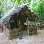 Hütte auf der Robininsel Nukunamo
