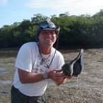 Tim with a conch