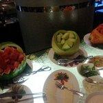 Fruit basket at breakfast buffet