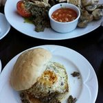 Scottish Breakfast and Haggis and Egg breakfast roll