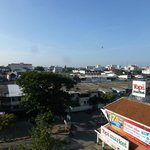 View from the 5th floor towards the old city of Chiang Mai.