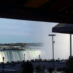 View of Niagara Falls from the restaurant