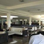 Bar area, near reception..