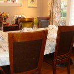 dining room ready for delicious breakfast