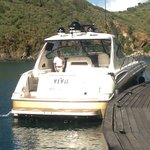 """our """"ferry"""" from Saint Thomas to Peter Island"""