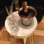 champagne in suite