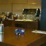 The empty jugs and bread bin