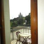 Vue de la chambre sur l'église de Tibidabo