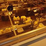 Cheese on the conveyor belt