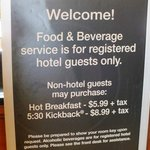 Food & Beverage Sign-Great Food and best of all it's FREE!