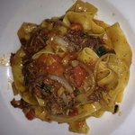 Pappardelle pasta with braised wild boar And porcini mushrooms