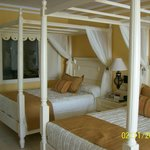 very fancy suite. Big with marble flloors