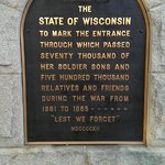 One of the Civil War plaques at Camp Randall