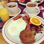 breakfast at the Ripplewood Cafe--yum!