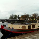 Boat tied up on the Shannon at Carrick-on-Shannon