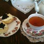 delicious tea and scones