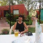 The Kesar restaurant garden area