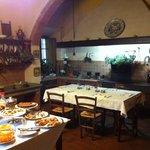 La vecchia cucina e la colaZione
